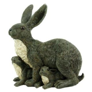 Michael Carr Mama Rabbit and Family Resin Statue   Garden Statues