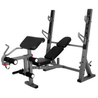 XMark International Olympic Weight Bench with Leg and Preacher Curl Attachment XM 4424   Bench Presses