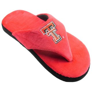 Comfy Feet NCAA Comfy Flop Slippers   Texas Tech Red Raiders   Mens Slippers