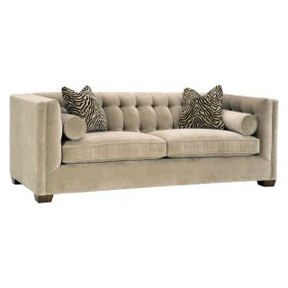 Lazar Tommy Condo Bellisimo Cafe Fabric Sofa with Pillows   Sofas