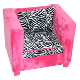 Harmony Kids Manhattan Chair   Hot Pink/Zebra   Kids Arm Chairs