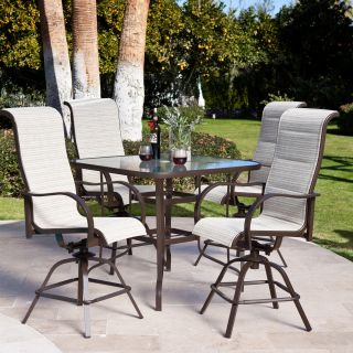 Coral Coast Del Rey Balcony Height Dining Set   Patio Dining Sets