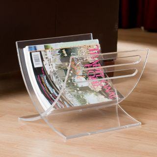 Japanese Style Curved Magazine Rack   Clear Acrylic   Home Magazine Racks