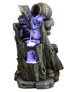 Yosemite Home Decor CW85083 Three Tiered Steps with Vase Polyresin Fountain   Fountains