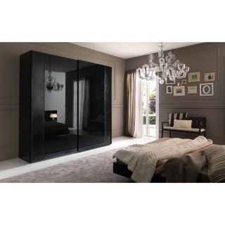 Rossetto USA Nightfly 80 in. 2 Door Sliding Wardrobe   Ebony   Closet Organizers