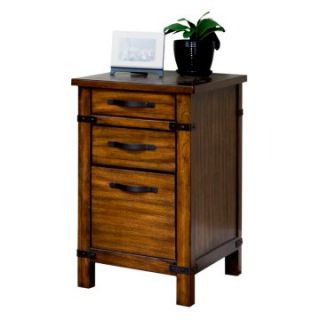 Martin Home Furnishings Point Reyes 3 Drawer Wood File Cabinet   Toasted Pecan   File Cabinets
