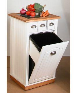 Venture Horizon Grafton Kitchen Island & Trash Bin   Kitchen Islands and Carts