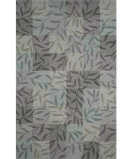 Trans Ocean Liora Manne Spello Boxed Vines Indoor/Outdoor Area Rug   Aqua   Rugs