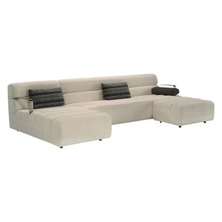 Lazar Aston Sectional Sofa with Accent Pillows   Sectional Sofas