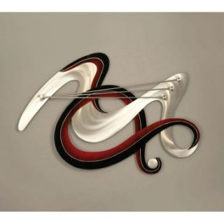 Nova Red Bird Metal Wall Art   48W x 36H in.   Wall Sculptures and Panels