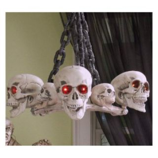 Midwest CBK Haunted House Party LED Skull Chandelier   Halloween