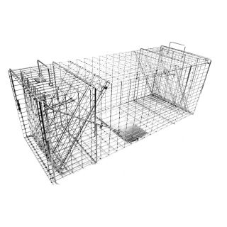 Tomahawk Original Series Rigid Trap with Two Trap Doors for Bobcats/Foxes/Coyotes   Wildlife & Rodent Control