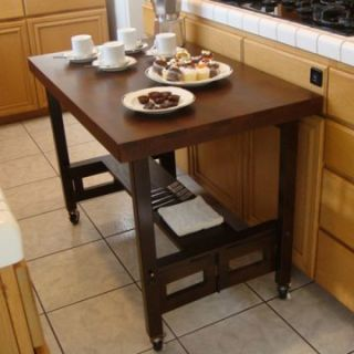 All Wood Folding Portable Serving Buffet   Kitchen Islands and Carts