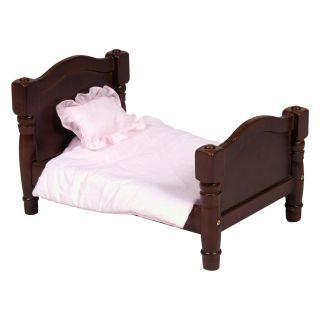 Guidecraft Doll Bed   Espresso   Baby Doll Furniture