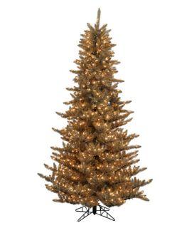 Antique Champagne Fir Pre Lit Christmas Tree   Christmas Trees