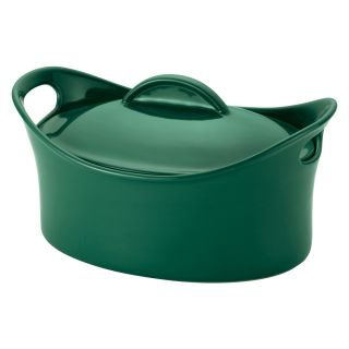 Rachael Ray Casseroval 4.25 Quart Covered Oval Baking Dish   Fennel   Casserole Pans