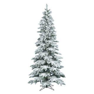 Vickerman 7.5 ft. Flocked Slim Utica Fir Christmas Tree   Christmas Trees