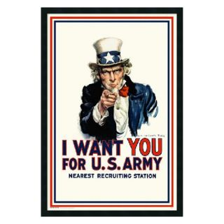 I Want You   Uncle Sam Framed Wall Art   25.41W x 37.41H in.   Framed Wall Art