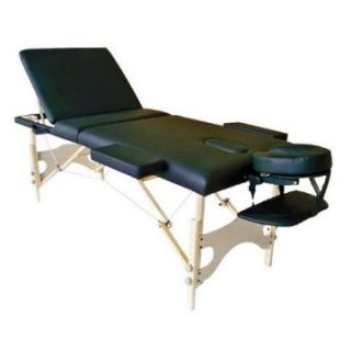 Sivan Health and Fitness Three Fold Reiki Portable Massage Table and Carrying Case   Massage Tables