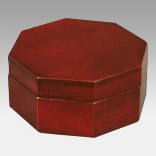 Mahogany Mini Octagon Wooden Jewelry Box   Womens Jewelry Boxes