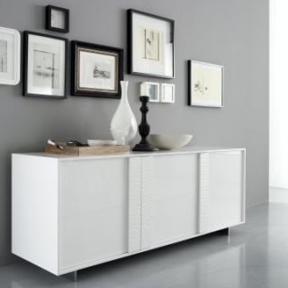 Rossetto Tween Glossy Buffet   White   Dining Accent Furniture