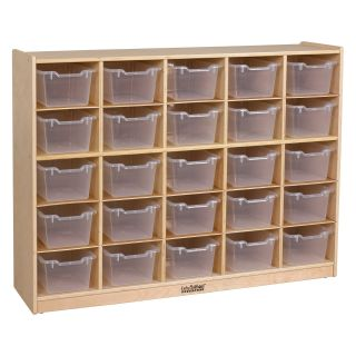 ECR4KIDS 25 Tray Storage Cabinet with Clear Bins   Toy Storage