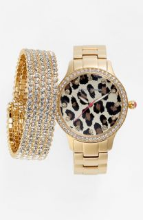 Betsey Johnson Watch & Cara Accessories Bracelet