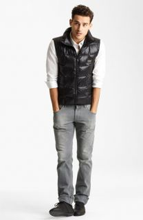 Dolce&Gabbana Down Vest, Dress Shirt & Slim Straight Leg Jeans