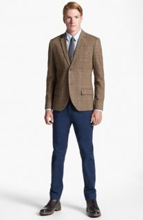 Topman Check Tweed Blazer, Oxford Shirt & Skinny Fit Chinos