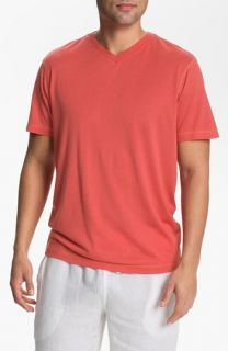 Daniel Buchler V Neck Silk Blend T Shirt