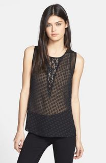 Robbi & Nikki Lace Inset Top