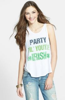 Liberty Love Stripe Crop Muscle Tank (Juniors) (Online Only)