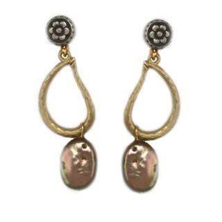 NEXTE Jewelry Antique Goldtone Bronze colored Shell Earrings NEXTE Jewelry More Earrings