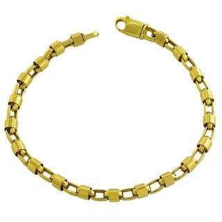 14k Yellow Gold Polished Bullet Link Bracelet Gold Bracelets
