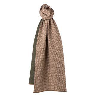 Fendi Beige/ Olive Zucchino Wool Knit Scarf Fendi Designer Scarves & Wraps