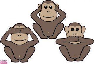 Wandtattoo: Drei Affen Motiv _ 97 x 70cm: Küche & Haushalt