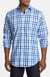 Peter Millar Queens Oxford Exploded Check Sport Shirt