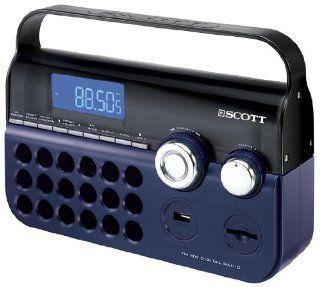Scott RXP 60 Tragbarer PLL Radio Tuner (SD/MMC Kartenleser, USB Anschluss) blau Audio & HiFi