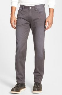 Denim & Leathers by Andrew Marc Slim Fit Brushed Twill Jeans (Road Dirt)