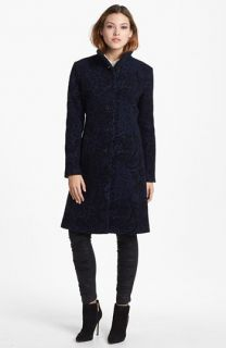 Nicole Miller Flocked Tapestry Coat