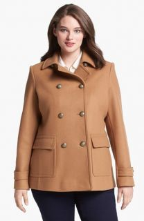 Kristen Blake Skirt Back Peacoat (Plus Size)