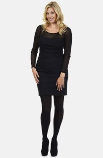 Kay Unger Illusion Yoke Sheath Dress (Plus Size)