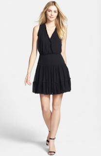 Nicole Miller Ruffle Fit & Flare Dress