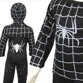 D204 13 Schwarz Spiderman Kost�m Kinder Halloween Karneval Party Kinderkost�m (Gr.116 122): Baby