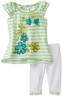 Young Hearts Baby Girls Infant Long Tunic With Legging Set: Clothing