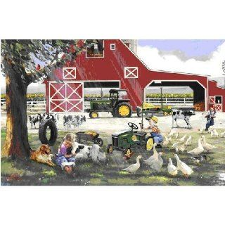 Great American Puzzle Factory John Deere Little Farmhands 1000 Piece Jigsaw Puzzle: Toys & Games