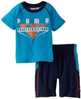 PUMA   Kids Baby boys Infant Victory Short Set, Gray, 12: Clothing