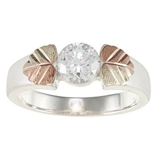 Black Hills Gold and Sterling Silver Cubic Zirconia Ring Black Hills Gold Black Hills Gold Rings