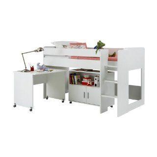 FMD M�bel 803 002 Hochbett Kombination Emilio 2 Bett (B/H/T) 205.5 x 123.0 x 119.0 cm, wei�: Küche & Haushalt