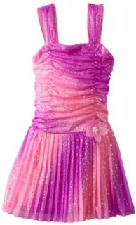Amy Byer Girls 2 6X Ombre Pleated Dress: Clothing
